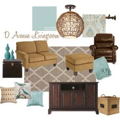 """""""Livingroom. Watery by Sherwin Williams."""" by hovie1204 on Polyvore"""