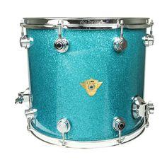 "DW Classics Series 22"" Bass Drum - Teal Glass"