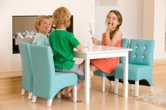 Giftsparadise.ca offers the best kids table and chair set. Now you donu0027t have to shop around the local stores in search of the table and chair set ...  sc 1 st  Pinterest & Blue Mini Mustang Kids Sofa | Kid stuff | Pinterest | Kids sofa and ...