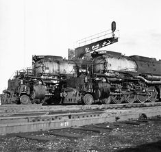 Scott Gwynn-Steam Locomotive Photographs 16 February 2018    A pair of Big Boys in Ogden, UT. Photo by my father.