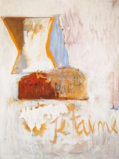 Robert Motherwell (American, 1915-1991), Je t'aime No. III with Loaf of Bread, 1955. Oil and charcoal on canvas, 182.9 x 137.2 cm.