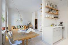 Sillas de diseño y piezas vintage en un estudio de 39 m² - Estilo nórdico | Muebles diseño | Blog de decoración | Decoración de interiores - Delikatissen