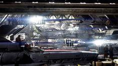 Galactica Blood And Chrome - Hangar Concept - TV, Doug Drexler on ArtStation at https://www.artstation.com/artwork/nWVB6