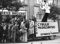 Rok 1935, Krakowskie Przedmieście. Warsaw, Poland, Poster, Ww2, Advertising, Vintage, Historia, Vintage Comics, Billboard