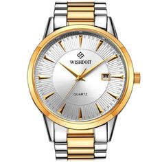 3ee119de1e3  US 21.46  WISHDOIT WSD-003G Fashion Men Quartz Watch Luxury Date Display  Business