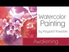 Watercolor painting - Rainy Irises - YouTube