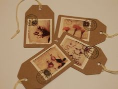 Pack of 4 handmade gift/luggage labels. by Pearlypantscrafts, £1.20