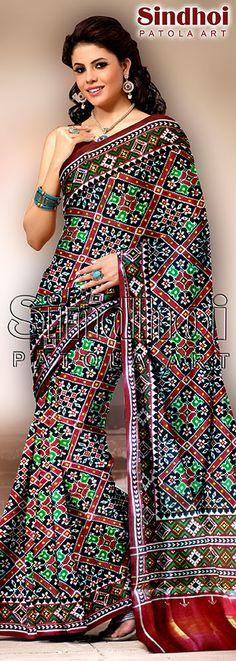 Patan patola saree by sindhoi patola art www.sindhoipatola.in