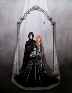 This may be one of the best fan images Ive ever seen. Props to whoever created this.  Snape looking into the Mirror of Erised. nerdy-love