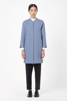 COS | Raw-cut wool coat - nothing blue skies ahead.