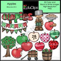 Apples Clip Art Bundle from Educlips on TeachersNotebook.com -  (52 pages)  - Apples Clip Art Bundle