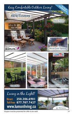 Need at Patio Cover? These look so awesome!