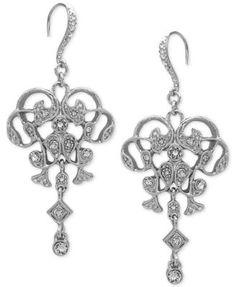 Nina Silver-Tone Cubic Zirconia Mandala Teardrop Earrings ...