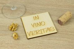 In Vino Veritas Coaster SET of Wine lover gift, Laser cut, Tea lover, For coffee lover, Grilling Wedding Anniversary, Anniversary Gifts, How To Make Coasters, Grilling Gifts, Wooden Coasters, Gifts For Wine Lovers, In Vino Veritas, Wood Patterns, Coaster Set