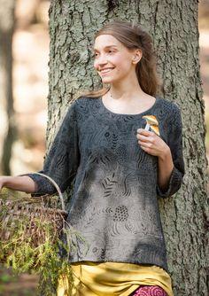 """Pusero """"Svampskogen"""" ekopuuvillaa – Metsän keskellä – GUDRUN SJÖDÉN - vaatteita verkossa ja postimyynnissä"""