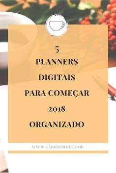 Planners digitais para organizar 2018