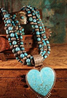 Dan Dodson turquoise heart necklace from www.cowgirlkim.com