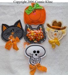 Halloween Candy entiende bordado diseños-gato por simpleasures