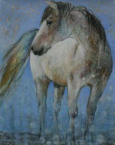 Paard IG - Loes Botman pastels, pastelkrijt tekeningen
