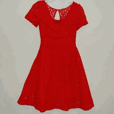 isabeeTWEENS:fiveloaves twofish red lace dress