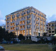 The GDM Megaron Luxury hotel in Heraklion, Crete, Greece. Built in 1926.