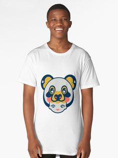 'Baby Face Wearing Panda Hat with Living Carol Background Color' T-Shirt by KakesStudio Animal Hats, Tshirt Colors, Female Models, Colorful Backgrounds, Giraffe, Panda, Classic T Shirts, Artists, Studio