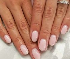Pale pink nails #pinknails