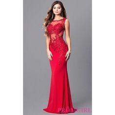 Jovani Jo-Jvnx103 Red Detailed Prom Dress