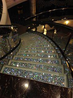 Swarovski Crystal Staircase - MSC Divina Cruise Ship