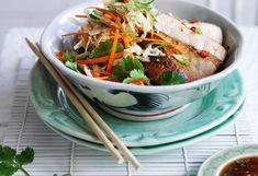 Honig Soja Medaillons mit Asia Salat