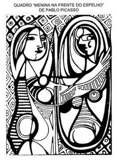 Adult Picasso Girl Before A Mirror 1932 Coloring Pages Printable And Book To Print For Free Find More Online Kids Adults Of
