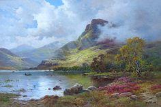"""Alfred de Breanski Jr.  """"September Morning in the Highlands"""""""