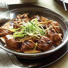 Steamed Fish on Soft Tofu with Black-bean Sauce | MyRecipes.com