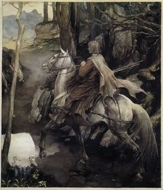 Alan Lee illustration from 'Peredur, son of Efrawg', from 'The Mabinogion'