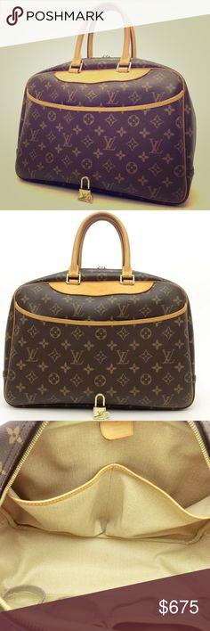✨AUTHENTIC DEAUVILLE LOUIS VUITTON BAG✨ 100% AUTHENTIC. Comes w/ lock & key. No TRADES. $550 via 🅿️🅿️ with free shipping. Louis Vuitton Bags Satchels