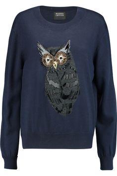 MARKUS LUPFER Joey embellished merino wool sweater. #markuslupfer #cloth #sweater