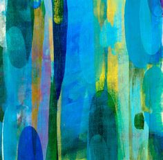 'Luminous' by Maeve Grogan // quilt inspiration #abstract #art #painting
