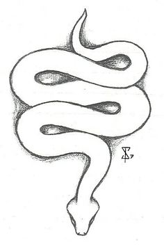 ideas tattoo snake design deviantart for 2019 Snake Sketch, Snake Drawing, Snake Art, Snake Painting, Art Drawings Sketches Simple, Pencil Art Drawings, Tattoo Drawings, Drawings Of Snakes, Tumblr Outline Drawings
