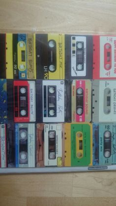 Repurposed cassette tapes - wall-hanging.