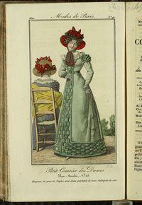 Petit Courrier des Dames : annonces des modes, des nouveautés et des arts del 15 de Noviembre de 1822
