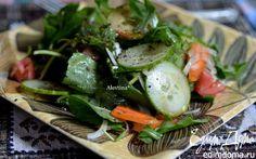 Шпинатный салат с заправкой   Кулинарные рецепты от «Едим дома!»