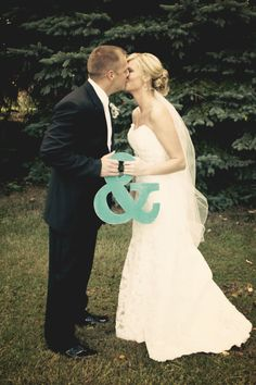 Bride Groom With Ampersand Image Only