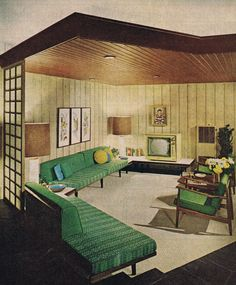 Mid century living room. Repinned by Secret Design Studio, Melbourne. www.secretdesignstudio.com