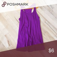 Simple Purple flowy top Flowy, comfortable material, racer back style, barely worn Forever 21 Tops Tank Tops