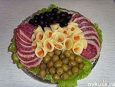 Corte en la mesa de fiesta (carne, queso) - Recetas sencillas Ovkuse.ru