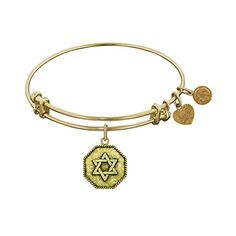 Antique Yellow Smooth Finish Brass Star Of David Angelica Bangle Bracelet >>> You can find out more details at the link of the image.(This is an Amazon affiliate link and I receive a commission for the sales)
