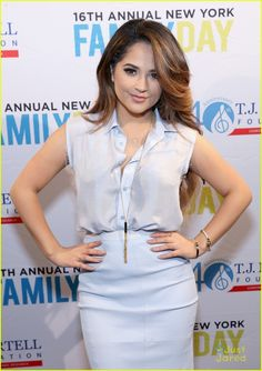 Laura Marano Has Mini 'Austin & Ally' Reunion - With Becky G at TJ Martell Foundation Family Day 2015: Photo #905848. Becky G keeps it cute and chic as she arrives for the 2015 T.J. Martell Foundation Family Day held at Brooklyn Bowl on Sunday afternoon (December 13) in New York…