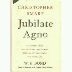 Jubilate Agno by Christopher Smart. #49BooksofExile