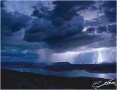Lightning over Lake Powell, in Page, AZ. (courtesy Charly Moore).