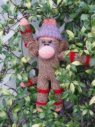 Lulu, la scimmia fatta all'uncinetto - Lulu, the crocheted monkey